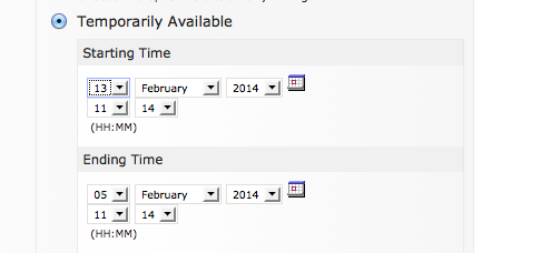 ILIAS E-Learning - Feature Wiki: Date and Time Picker
