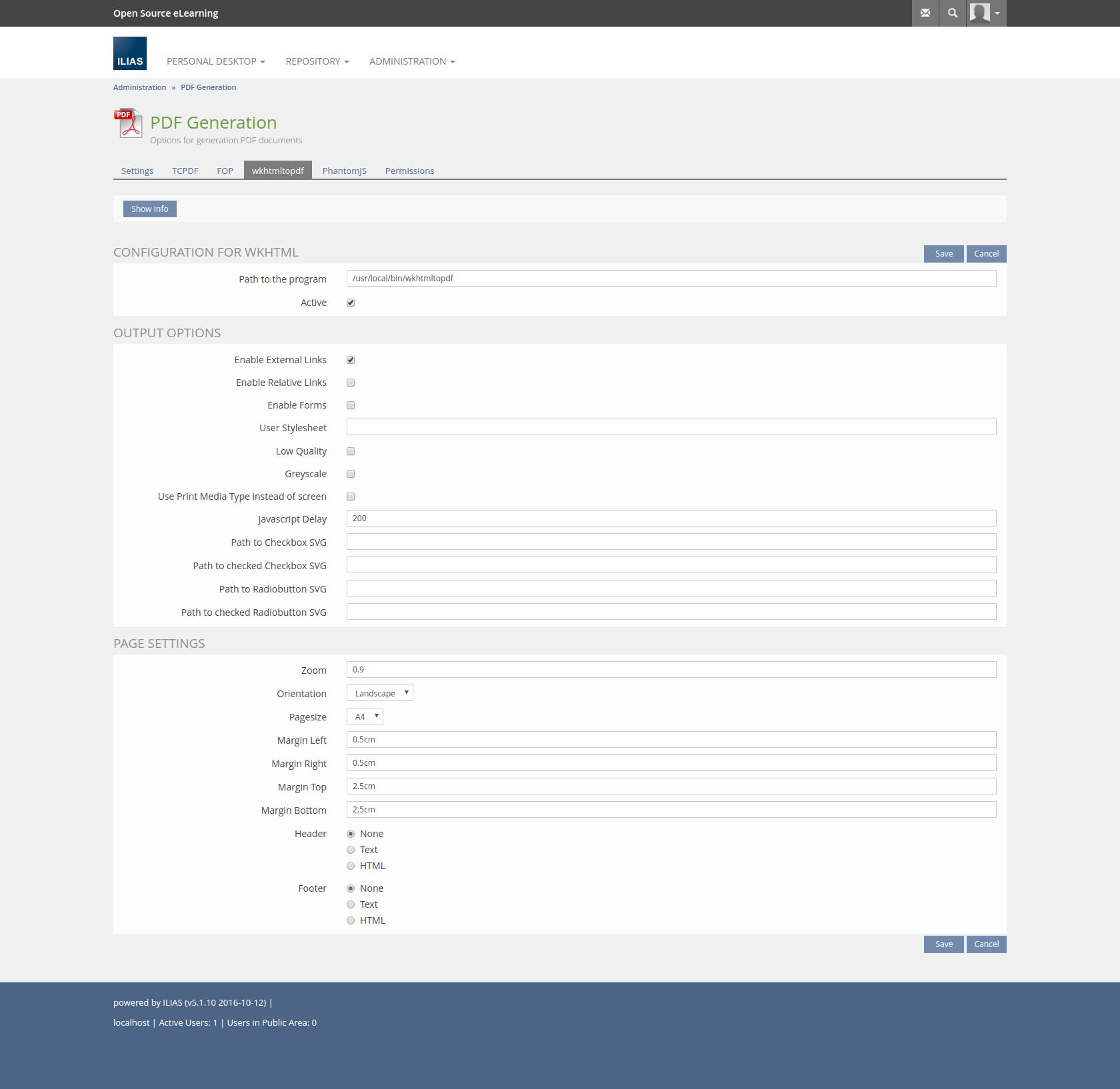 ILIAS E-Learning - Feature Wiki: Plugin Slot for PDF generation