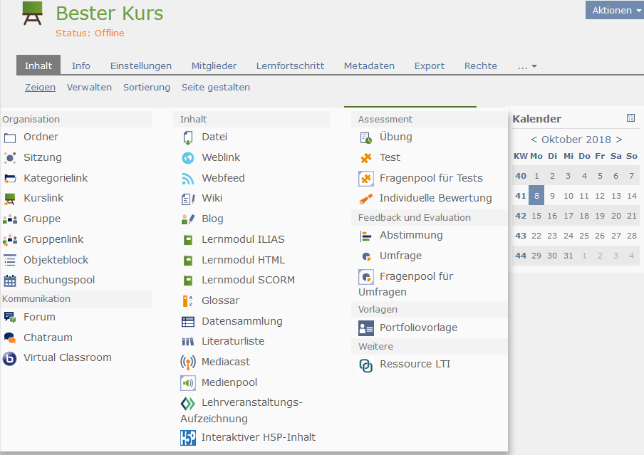 Ilias E Learning Feature Wiki Consuming Lti In Repository